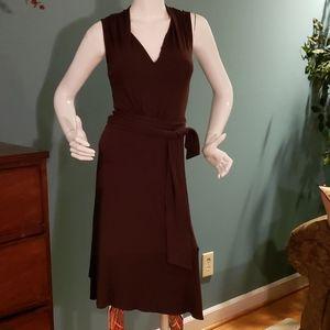 Karen Kane Chocolate Brown Wrap Dress Size XS
